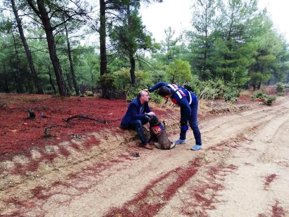Ormanda kaybolan Orman İşletme Şube Müdürü Zengin'i takip köpeği buldu