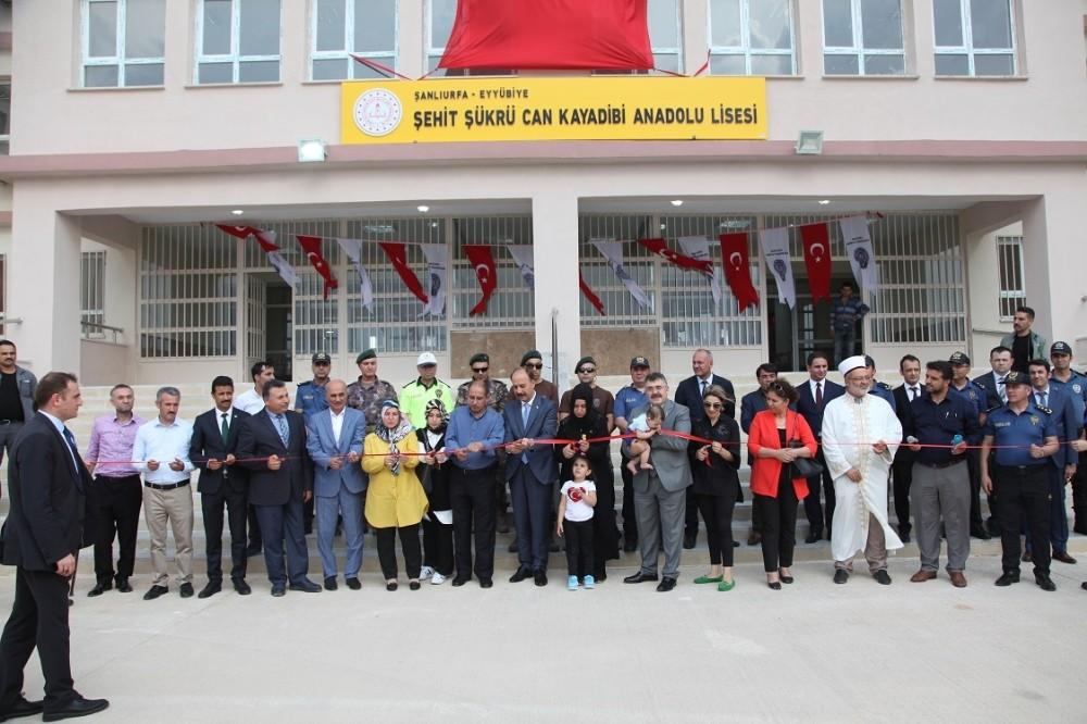 Şehit Komiser Yardımcısı Şükrü Can Kayadibi'nin ismi okula verildi
