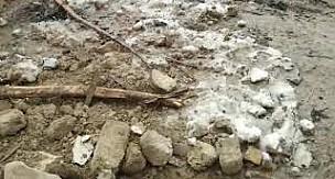 Karaman'daki şiddetli fırtınada ambar yıkıldı