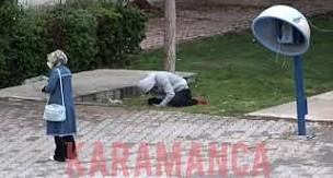 Karaman'daki parkta yürüyüş yaparken bir anda yere yığıldı