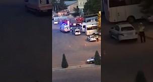 Karaman'da intihar eden şahsın atlama anı